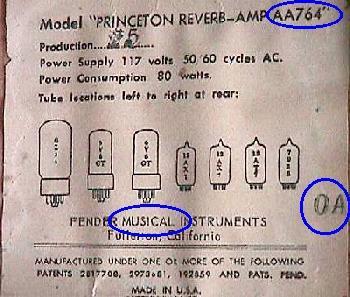 dating a fender amp bt serial number