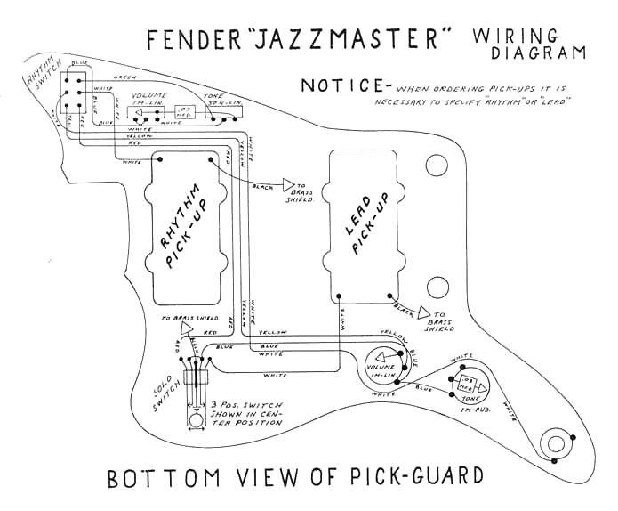 All Parts Jazzmaster Wiring Diagram - All Diagram Schematics on